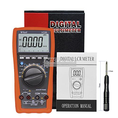nktech Vici VC99 3 6/7 LCD Manual Auto multímetro digital probador de AC DC voltaje corriente resistencia capacitancia frecuencia medidor de amperímetro Ohm analógico Bar Auto Range