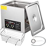 VEVOR 15L Upgraded Ultrasonic Cleaner Professional Digital Lab Ultrasonic Parts Cleaner with Heater Timer for Jewelry Glasses Cleaning(600W Heater,360W Ultrasonic)