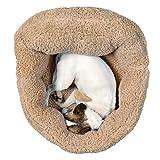 国内メーカー 洗える 犬 ベッド、 猫 ベッド、小型犬用ベッド・クッション (ベージュ) 、ふわモコ 伸縮性に富んだ暖かいベッド、安心の日本国内ブランドUK Elements正規商品