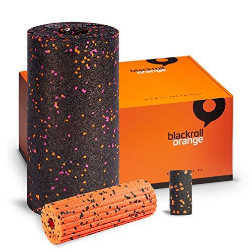 Faszientrio Pink Edition - blackroll-orange Faszienrolle mittlere Härte, kleine Faszienrollen Mini Flow und Micro