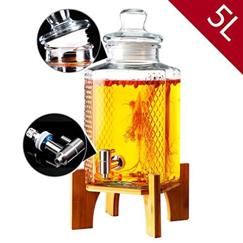 CSQHCZS-FQ dranktoevoer, druppelvrij metaal spigot zegelring glazen deksel, bier saptoevoer voor limonade/thee/koud water ++