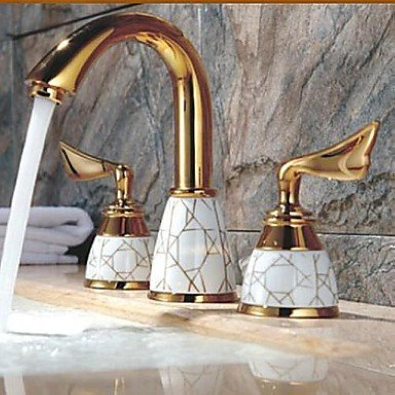 SEBAS Home Becken-Hahn Ti-PVD Finish verbreitet Waschbecken Wasserhahn Bad Wasserhahn Becken Mischbatterie