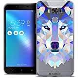 Caseink - Coque Housse Etui pour ASUS Zenfone 3 Max Plus ZC553KL (5.5) [Crystal Gel HD Polygon Series Animal - Souple - Ultra Fin...