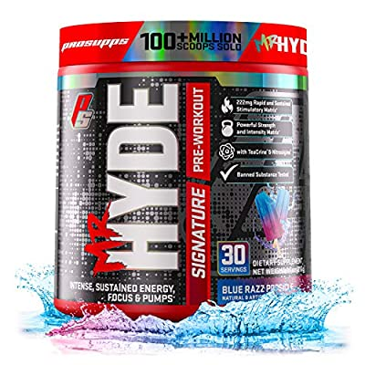 ProSupps? Mr. Hyde? Signature Pre-Workout Energy Drink ? Intense Sustained Energy, Focus & Pumps with Beta Alanine, Creatine, Nitrosigine & TeaCrine