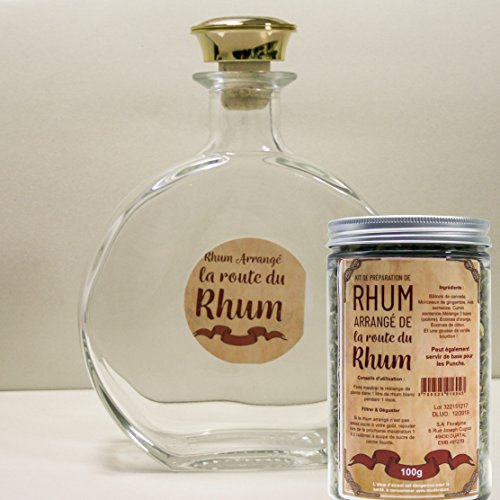 Floralpina karaf leeg 750 ml + Rum arrangeert Route du Rhum
