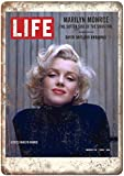 Life Magazine Marilyn Monroe Póster de Pared Metal Creativo Placa Decorativa Cartel de Chapa Placas Vintage Decoración Pared Arte para Carretera Bar Café Tienda