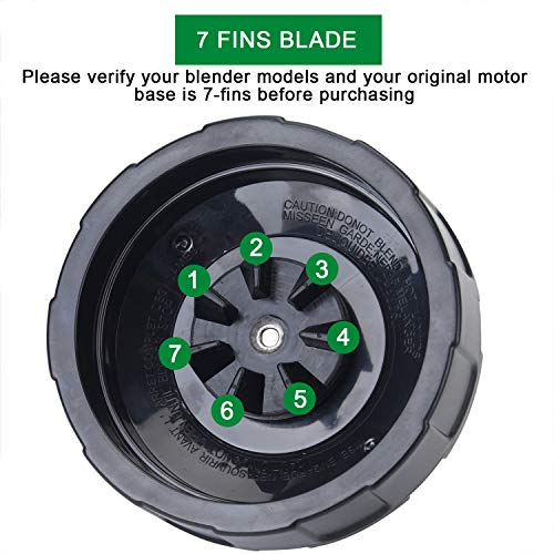 [Updated Version] 7 Fins Blender Blade Compatible with Ninja Blender Blade Replacement for Ninja Auto iQ BL682-30 BL642-30 BL450-30 BL482-30 BL687CO-30 ect.