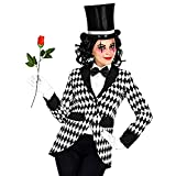WIDMANN Disfraz de arlequín frack para mujer, payaso, circo, carnaval, fiesta temática, multicolor, M