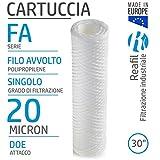 Reafil - FA Filo Avvolto Cartucce Filtranti per Acqua Industriale (30', 20 Micron)