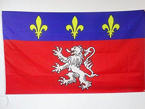 AZ FLAG Bandera de la Provincia DE Lyonnais 90x60cm para Palo - Bandera DE Lyon - Lion 60 x 90 cm