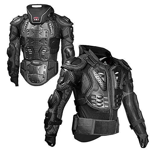 XEPAJS Chaqueta de Protección para Motocross Motos Ropa Protectora de Cuerpo Armadura Completo Profesional de Motocicleta Deportiva para Hombres Columna Vertebral Espina Pecho