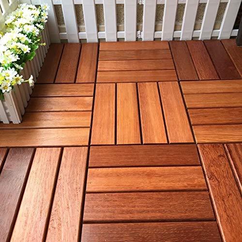 Massivholzboden/Selbstklebe Deck/Innenhof Außenterrasse Korrosionsschutz Holz Fliesen/Rasen Balkonboden Aufkleber (Size : 1PCS)