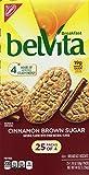 Belvita Cinnamon Brown Sugar Biscuits, 25 Count in Packs of 4 each, 44 Oz