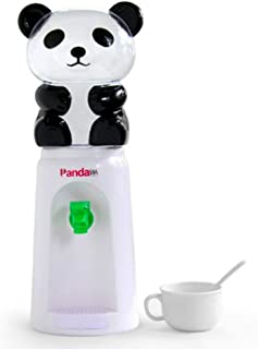 7U Panda Water Dispenser, 2.5 Liters Mini Bottled Cooler Drinking Stand for Office Desk, Room Table, Kitchen Counter - White