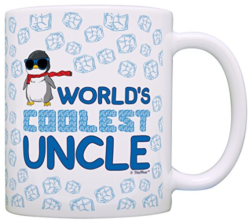 Fathers Day Gifts Worlds Coolest Uncle Penguin Gift Coffee Mug Tea Cup White