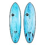 Softech Flash Eric Geiselman FCS II Surfboard Aqua Marble 5'7'