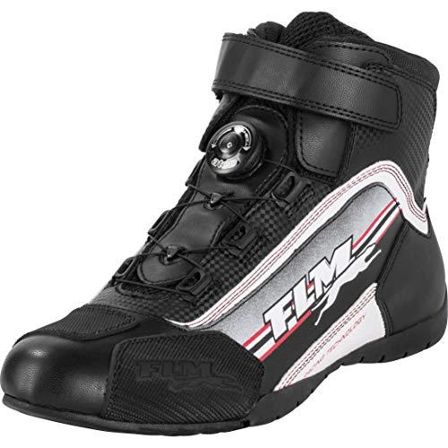FLM Motorradschuhe, Motorradstiefel kurz Sports Schuh 1.2 schwarz/weiß 34, Herren, Sportler, Sommer