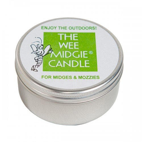 Insect Repelling - The Wee Midgie LAVENDER & BOG MYRTLE Candle Tin for Midges & Mozzies - Midge & Mosquito Repellent Candle