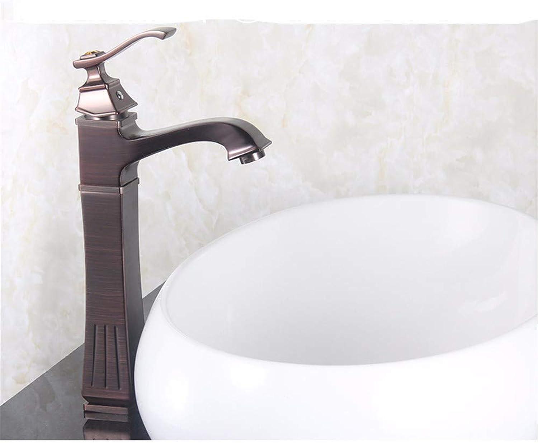 Yuanshuai88-Faucet Wasserhahn Gold Einhandbecken antikes Bad WC Einlochmontage mit heiem und kaltem Wasserhahn