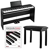 Korg B1SP 88 key Digital Piano Package with Natural Weighted Hammer...