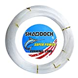 Shaddock Fishing Nylon Monofile Angelschnur Seil 500M 0,3mm-2,0mm Super Starke Nylon Monofil Speer Angelschnur Speargun Linie für Salzwasser/Süßwasser Angeln(Clear,Wire Diameter:0.5MM)