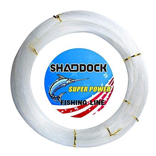 Shaddock Fishing Nylon Monofile Angelschnur Seil 500M 0,3mm-2,0mm Super Starke Nylon Monofil Speer Angelschnur Speargun Linie für Salzwasser/Süßwasser Angeln(Clear,Wire Diameter:1.7MM)