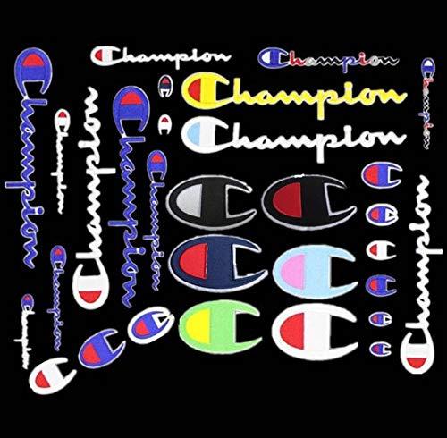 YUNHUI Paquete de 21 parches Champion con parches en varios tamaños para coser o planchar con bordado Insignia de emblema de apliques de bricolaje decorativo