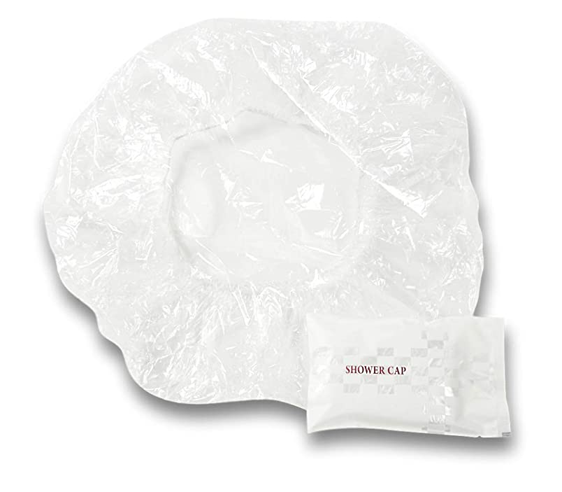 寛大さ統計的昇るラティス シャワーキャップ 業務用 個別包装100入り 使い捨てキャップ