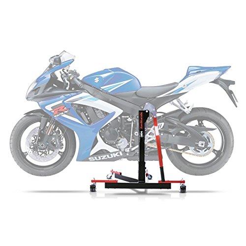 ConStands Power Evo-Zentralständer Kompatibel für Suzuki GSX-R 750 06-07 Rot Motorrad Aufbockständer Montageständer Heber