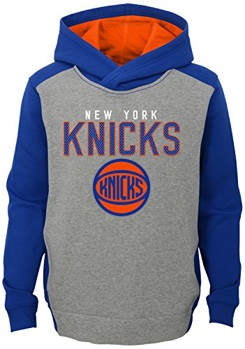 "NBA Kids & Youth Boys ""Fadeaway"" Pullover Hoodie New York Knicks-Grey Heather-M(5-6)"