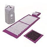 Kit d'acupression VITAL XL DELUXE SOFT - tapis XL + coussin + tapis pour les pieds...