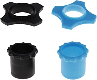 Generic Set of 2 Microphone/Microphone Protection Rings with Blue And Black