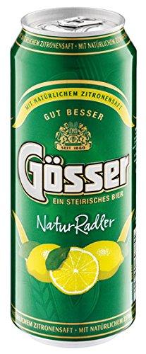 Gösser NaturRadler Zitrone, 1,9% Vol.Alk, Dose - 0.5L - 6x