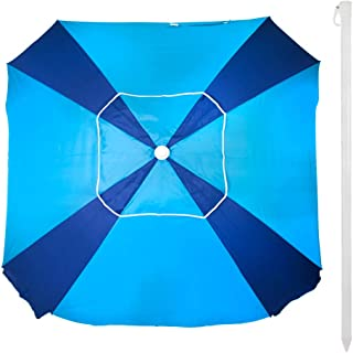 Aktive 62107 - Sombrilla cuadrada 164x164 cm protección UV50 Beach - Azul