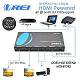 Orei 1x2 2.0 HDMI Splitter with Scaler Audio Extractor 2 Ports with Full Ultra HDCP 2.4K at 60Hz & 3D Supports EDID Control - UHDS-102A