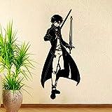 Anime Cartoon Manga Sword Art Online Kirigaya Kazuto Swordsman Sao Vinilo Etiqueta de la pared Calcomanía Boy Fans Dormitorio Sala de estar Club Decoración para el hogar Mural