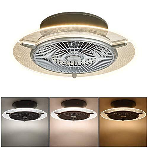 WOERD Ventilador De Techo con Iluminación LED Lámpara de Ventilador para Dormitorio Invisible Dormitorio Sala De Araña De Habitación De Los Niños De La Lámpara De Iluminación