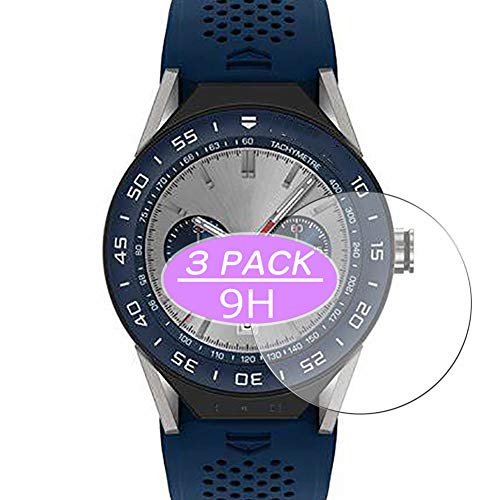 VacFun 3 Piezas Vidrio Templado Protector de Pantalla, compatible con Tag Heuer Connected Modular 45, 9H Cristal Screen Protector Protectora Reloj Inteligente NEW Version