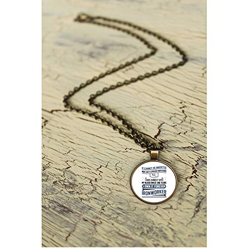 OMANECK Gift for Ironworker Necklaces, Being an Ironworker Necklace Nickel (Necklace - Nickel - White)