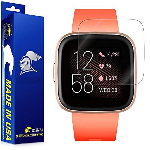 ArmorSuit MilitaryShield Screen Protector Compatible with Fitbit Versa 2 (6 Pack) Max Coverage Anti-Bubble HD Clear Film