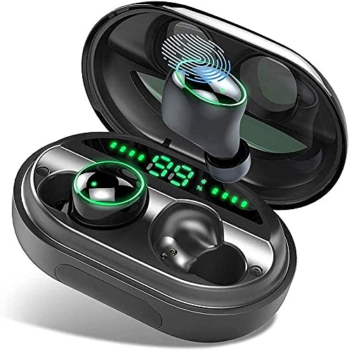 Fringe Trim Auriculares Bluetooth Auriculares Inalámbricos 150h Tiempo De Juego, Auriculares Inalámbricos Verdaderos con Antiruelos con HD Profundo, Baja Latencia, Control Táctil