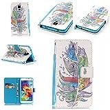 Qiaogle Téléphone Coque - PU Cuir Rabat Wallet Housse Case pour LG K5 (5.3 Pouce) - YB19 / Retro...