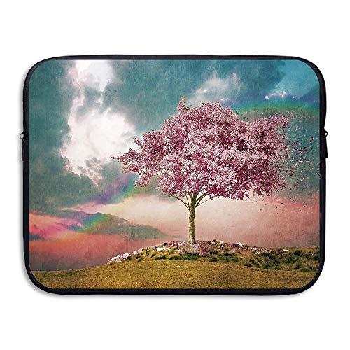Business Aktentasche Hülle Pink Sky Tree Rainbow Laptop Hülle Schutzhülle Für MacBook Pro Air Lenovo Samsung, 15inch