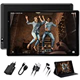 Tablette Tactile 10 Pouces Tablette Android 9.0 FACETEL Q3 64Go,4Go de RAM +128Go Stockage,5MP+8MP Caméra,Certifié par Google GMS,8000mAh Tablette PC,GPS,WiFi,Bluetooth,FM-Noir