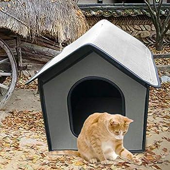 Niche pour chien, maison pour chat, chenil étanche pour chien, maison pour animaux de compagnie résistante aux intempéries, abri pour chiots intérieur extérieur, abri pliable pour animaux de compagnie