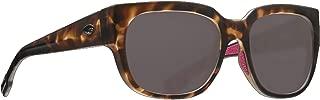 Costa Waterwoman WTW249OGP Womens Matte Shadow Tortoise Frame Grey Lens Wrap Sunglasses