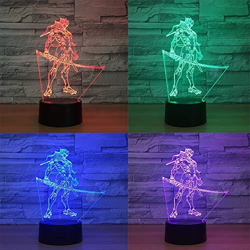 Nur 1 Stück Spiel D.Va Hana Song Kid Nachtlicht 3D LED Touch Sensor Schlafzimmer Dekor Licht Urlaub Geschenk OW Nachtlampe