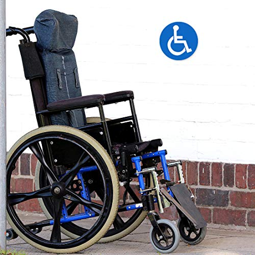 Disabled Wheelchair Symbol Labels | Handicap Signs Stickers 2 inch Round Convenient Decals for Handicapped Parking 60 pcs Photo #3