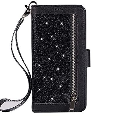 Jennyfly Women Fashion Wallet-Style PU Leather Hand Free Stand Purse Case with Hand Strap Multi-Slots Pocket Protective Phone Case from