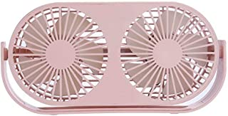Portable USB Desktop Fan, Double Fan Blade Design, 360 Degree air Supply, Suitable for Office/Bedroom/Outdoor(Pink)